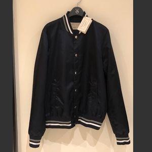 Maison Kitsune Navy Bomber Jacket